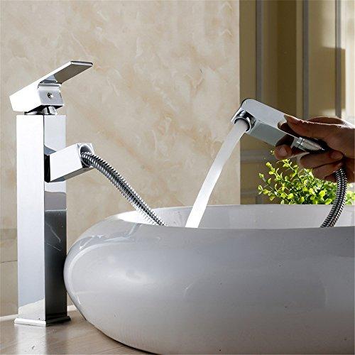 MIAORUI waschbecken bad wasserhahn plus podest becken wasserhahn heißes wasser ziehen art kalt mischen tap tap square becken (Bad Waschbecken Podest)