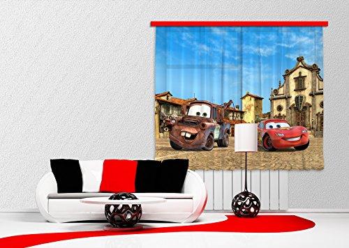 Ag design fcs xl 4315 - tende per camera dei bambini, motivo cars disney