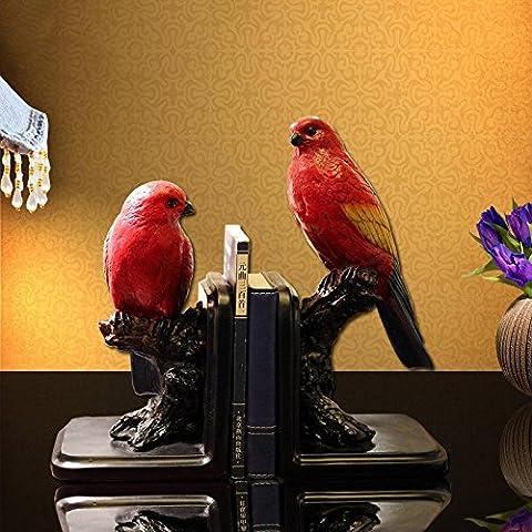 Du lijun 2016 Sujetalibros chino pájaro festivo vintage regalo de Artes de la resina de decoración del hogar ancianos alto grado grado , 30*13*18