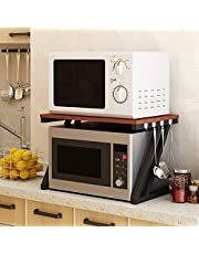 INDIAN DECOR 28800 Kitchen Shelf Organizers and Storage Home Cupboard Organizers Shelves Cooker Shelf Microwave Oven Rack Woody Multi Function, 2 Layer, 57 * 37.6 * 37 cm Convenient and Practical