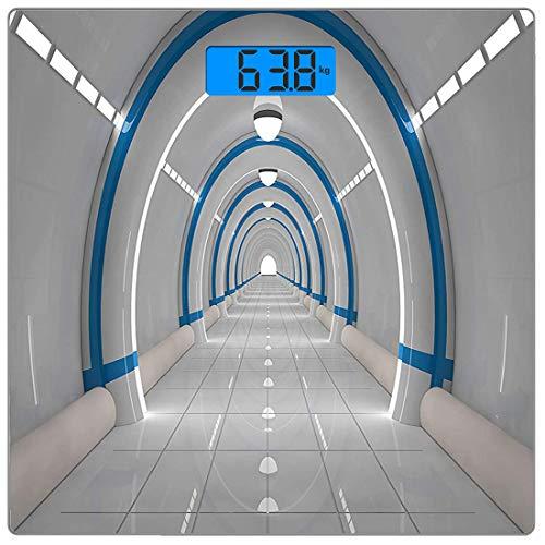 Digitale Präzisionswaage für das Körpergewicht Platz Weltraum Ultra dünne ausgeglichenes Glas-Badezimmerwaage-genaue Gewichts-Maße,Galaxy Texturierte Raumfahrt Animation Flash Force Travel Statisches
