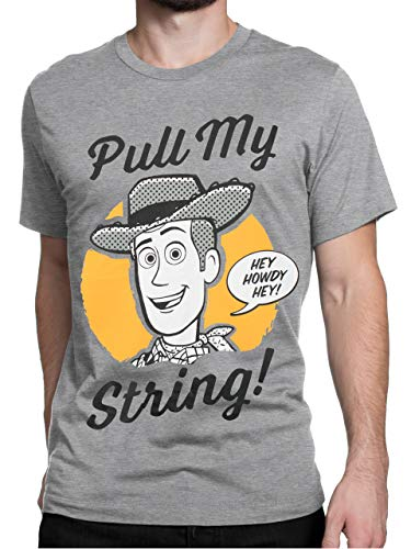 Disney Herren Toy Story T-Shirt Grau Large Toy Story T-shirts