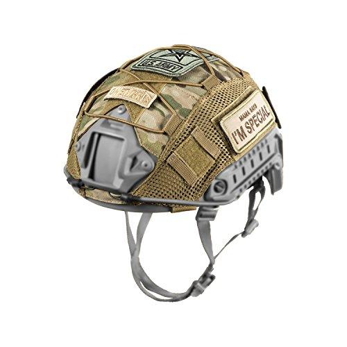 1T Multicam - Funda para casco Ops-Core FAST PJC y OneTigris PJhelmets, camuflaje