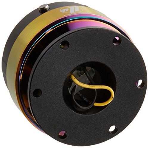 NRG Steering Wheel Quick Release Kit - Gen 2.0 - Black Body w/ Neochrome Ring - Part # SRK-200BK-MC