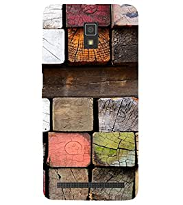 PRINTSWAG WOODEN LUMBER PAINT Backcover For Lenovo A6600