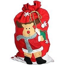 eBuyGB Gigante de Papá Noel Renos de Santa Claus, poliéster, Rojo, 28,