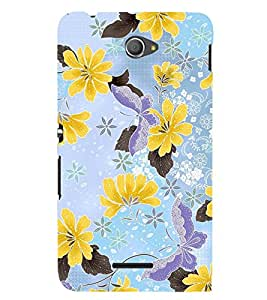 PRINTSWAG FLOWERS PATTERN Designer Back Cover Case for SONY XPERIA E4 DUAL