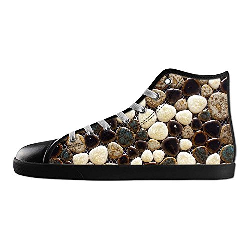 dalliy Pebble Mens Canvas Shoes Chaussures Lace Up High Top pour Sneakers Toile Chaussures de chaussures de toile chaussures de sport D