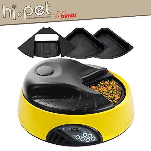 Distributore Automatico per Cani e Gatti Ciotola Automatica per Animali con Voce Registrata Programmabile fino a 4 pasti