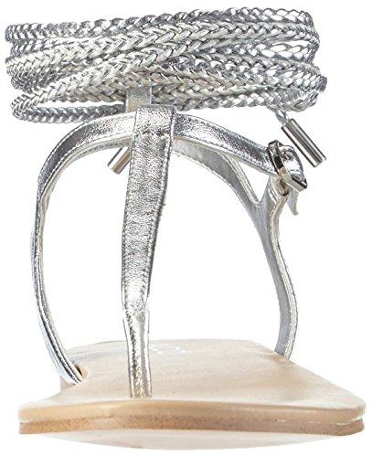 Aldo Peplow, Scarpe Col Tacco con Cinturino a T Donna Argento (Silber (Silver / 81))