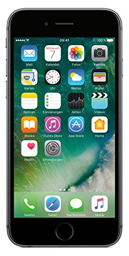 Apple MN0W2ZD/A iPhone 6S (11,9 cm (4,7 Zoll), 32GB, 12 Megapixel Kamera, iOS 9, LTE) space grau