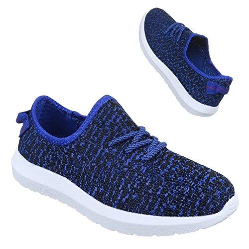 Sneakers für Damen und Herren Unisex Freizeitschuhe Sportschuhe Blau