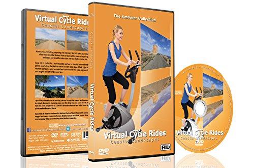Virtuelle Fahrradstrecken – Küstenlandschaften – Für Indoor Radfahren, Laufband und Laufworkouts