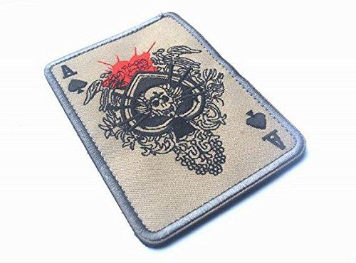 Nuovo BZ0168 # ACE OF SPADES grim reaper La morte della carta TATTICO ACU-STICK sul morale BADGE PATCH CRANIO