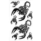 King Horse Hot Verkauf wasserdicht Tattoo Sticker Männer und Frauen Mode sexy schwarzen Skorpion