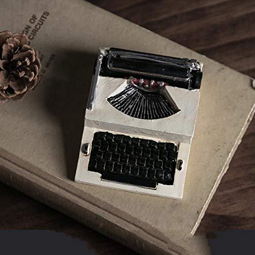 rikanische Schreibmaschine Modell Skulptur Dekoration Handwerk Heimtextilien Geschenk Handbemalt Harz - Schreibmaschine 2 ()