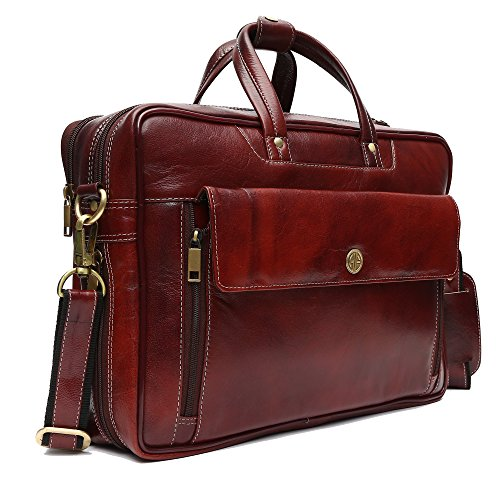 6ac79c63b3b1e Hammonds Flycatcher Leather 20 Ltrs Brown Briefcase