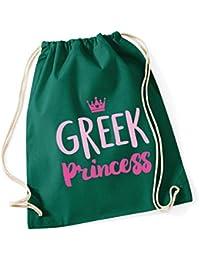 HippoWarehouse Greek princess Drawstring Cotton School Gym Kid Bag Sack 37cm x 46cm, 12 litres