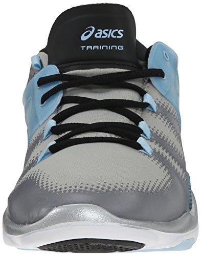 Asics Womens Gel Fit Vida Fitness Shoe Gray/Corydalis/Black