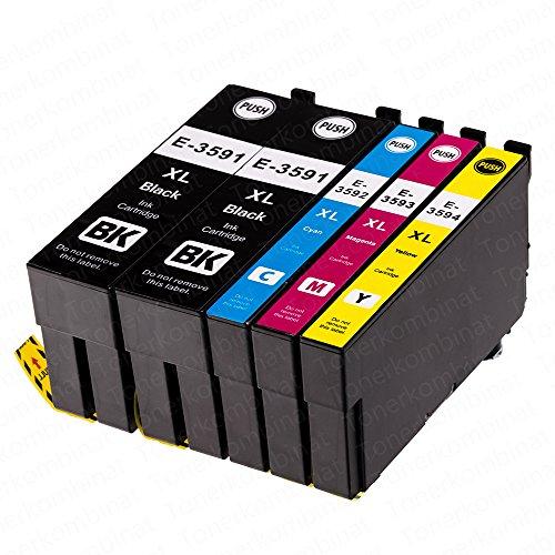 5 EasyInk Druckerpatronen kompatibel zu EPSON 35XL T3591 T3592 T3593 T3594 für Epson Workforce Pro Serie WF 4720 DWF WF 4730 DTWF WF 4735 DTWF WF 4740 DTWF - 1 Ea-toner-patrone