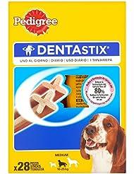 Pedigree Dentastix Uno al Giorno Medium 10-25 kg, 28 Pezzi - 4 x 180 gr