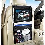 Soporte tablet coche reposacabezas y Organizador asiento trasero, soporte de coche universal para tablet, soporte universal para tablet, soporte de coche para reposacabezas para iPad 2/3/4/ , Ipad Air, Ipad Mini, Galaxy Tab/Tab S/Note Pro, Nexus 7, Kindle Fire HD 6/7 Fire HDX 7/8.9 Fire 2,etc. Negro