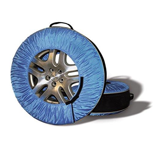 SHENGLI 4Pcs Einstellbar 4X4 Reserverad Covers13-20''inches Wasserdicht Durable Reifen Tragetasche Fall Polyester Winter und Sommer Auto Reifen Aufbewahrungsbeutel,Blue