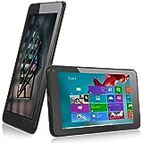 rotor® 7 Pulgadas Windows Tablet PC, Bluetooth, IPS HD Pantalla 1024 x 600, Windows 8.1 Free Upgrade to Windows 10,1 GB de RAM, 16 GB de memoria, cámara, Intel Atom procesador quad core CPU Ordenador, cámara dual con especial Ofertas