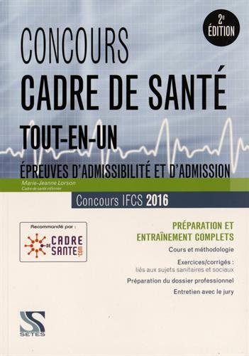 Concours cadre de santé 2016 - Tout-en-un