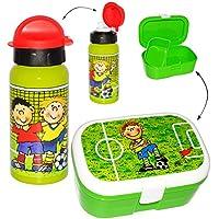 Preisvergleich für alles-meine.de GmbH 2 TLG. Set _ Lunchbox / Brotdose & Trinkflasche - Fußball & Fußballspieler ..