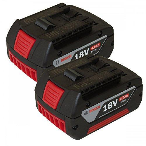 Preisvergleich Produktbild DOPPELPACK Bosch Akku 18V 4,0AH Li-Ion 2607336815 2607336816 - 2er Set 1600Z00038