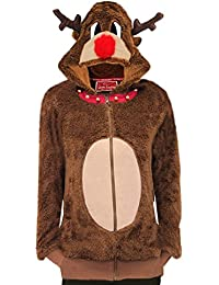 Drôle 'Reindeer' Noël Pull - Veste Sweat à capuche pour femme
