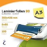 PrintationLaminierfolientaschen, 100Stück, A3, 426x 303mm, 2x 80mic, laminiert Illustrationen mit hoher Qualität