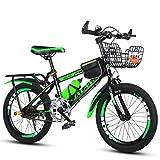 Xi Man Shop Mountainbike Kinderfahrrad Fahrrad des Jungen  Mädchen Fahrrad 18〃/20〃/22〃 (Color : Green, Size : 18in)