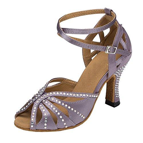 Minitoo évasé pour talons de chaussures de danse Satin Pour Mariage Violet - Baby Purple