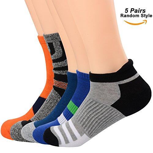 SOUMIT Herren Socken | 5 Paar Classic Cotton Rich Short Crew Socken und Low Cut No Show Sport Socken, Schützen Sie Ihre Füße in Winter & Herbst (Zufällige Farbe) (Socken Comfort Low)