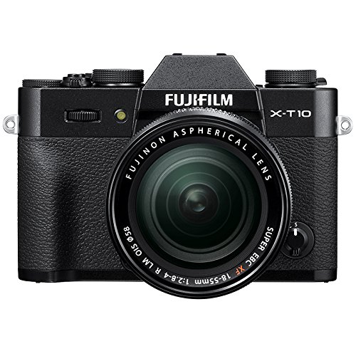 Fujifilm X-T10 Fotocamera Digitale con Obiettivo Zoom XF18-55 MM F2.8-4 R LM OIS, Nero