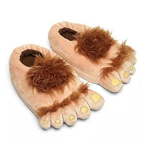 Für Kostüm Hobbit Hunde - LOLANTA Lolanda Erwachsene Big Furry Adventure Hausschuhe Herren Frauen haarige Hobbit lustige Füße Schuhe