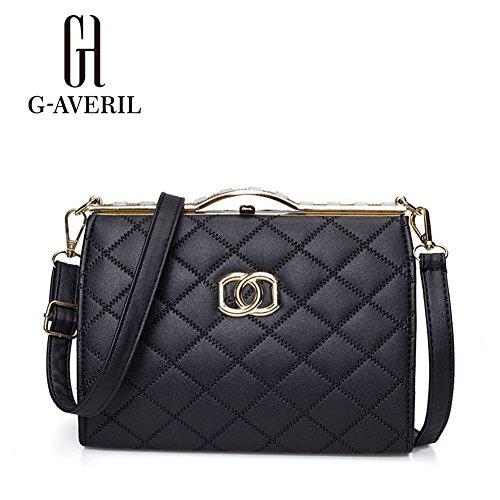 (G-AVERIL) Borsa a Mano Spalla Donna Elegante Pelle Ragazza Grande Borsetta Borsa Tote Shopping Bag Handbag for Women nero