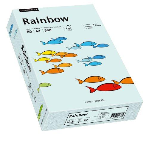 Papyrus 88042695 Druckerpapier Rainbow 80 g/m², A4 500 Blatt hellblau