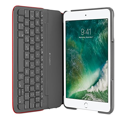 Logitech 920-007628 Bluetooth Rojo Teclado para móvil - Teclados para móviles (Rojo, Apple, Apple iPad Mini 1/2/3, Inalámbrico, Bluetooth)