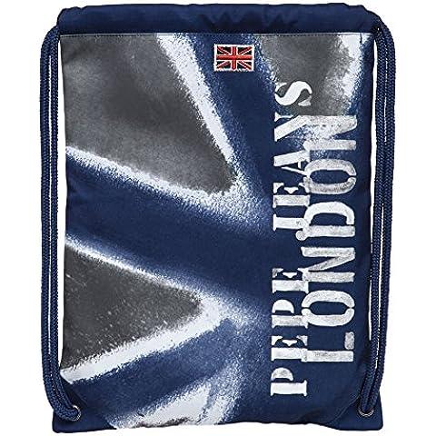 Pepe Jeans Mochila Saco, Diseño Camu, Color Azul, 1.54 Litros