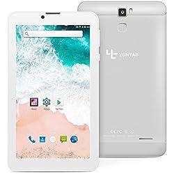 Tablet Yuntab E706 3G con retro in lega di metallo IPS 7 pollici Google Android 6.0 Quad Core support Dual SIM Card,1G+8G, Dual Camera,WiFi,Bluetooth,GPS (Argento)
