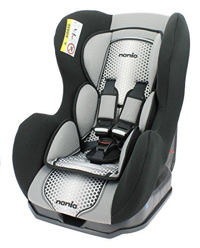 Nania Kindersitz Cosmo SP, Gruppe 0/1, 0-18 kg, von Geburt bis ca. 4 Jahre, in drei verschiedenen Farben (POP BLACK)