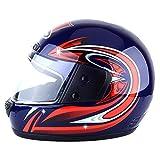 nihiug Unisex Motorcross Helme Wandern Große Einstellbare Schutzkappen Winter,Blue-OneSize