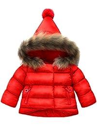 ARAUS Bebés Caliente Abrigos Invierno Abajo Chaqueta Linda de la Capa Nieve con Capucha con Plumas
