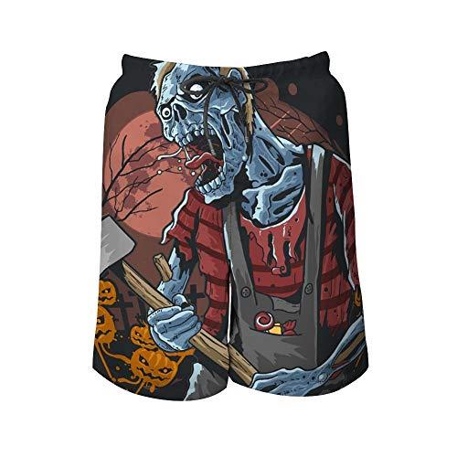 Pantalones de Playa para Hombre, Halloween, Zombies, Fiestas, bañadores de Color para Hombre, Incluye...