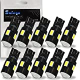 Safego 10 x T10 W5W LED Bombillas exteriores 6 SMD 5630 5730 Luz Coche trasera Lámpara Blanco Xenon...