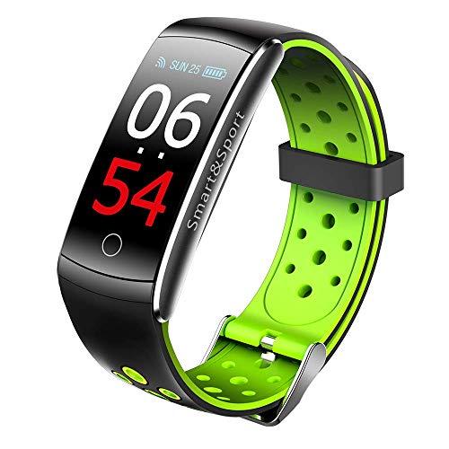 """MKAI-smartwatch Smart Watch Intelligentes Armband 0,96\""""LCD-Display Herzfrequenz-Messgerät Armband Blutdruck Blutsauerstoff-Test Fitness-Band Kompatibel Mit IOS Und Android,Green"""