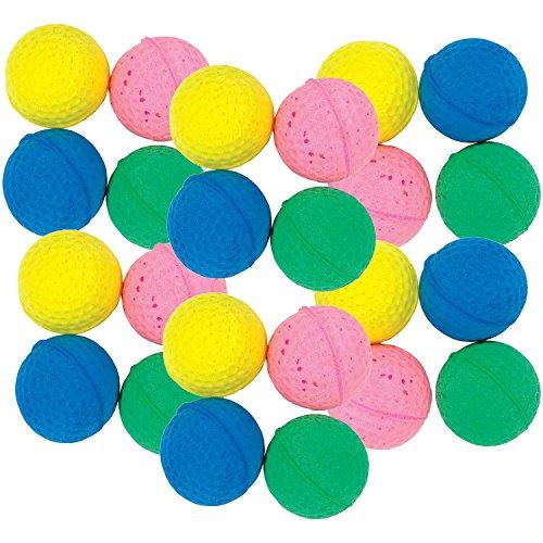 good Girl Schaumstoffbälle für Katzen Golfball Stil leicht Super Bouncy auch auf Teppich 4cm/4,1cm Durchmesser Ball Spielzeug für Erwachsene Katzen oder Kätzchen Mehrfarbig Blau/Grün/Gelb/Pink